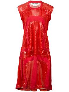 платье-футболка с пайетками Junya Watanabe Comme Des Garçons