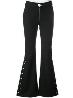 расклешенные брюки со шнуровкой Ssheena