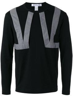 geometric print longsleeved T-shirt Comme Des Garçons Shirt