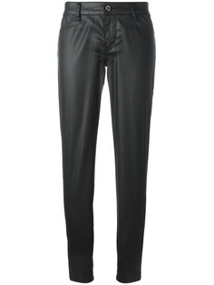 брюки с кожаным эффектом Just Cavalli