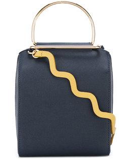 wavy shoulder strap gold detail bag Roksanda