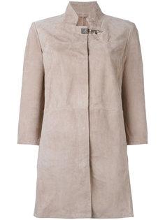 пальто с застежкой на крючок Fay