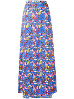 kite patterned maxi skirt Ultràchic