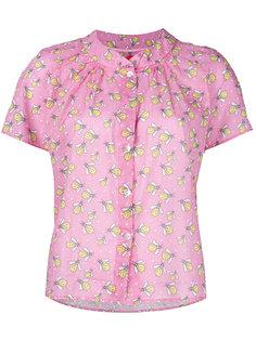 patterned ruffle blouse Ultràchic