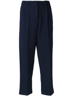 pleat detail cropped trousers Theory