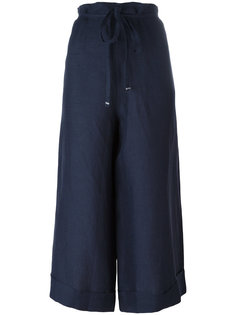 super wide cropped trousers  Daniela Gregis