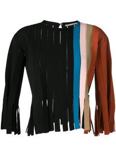 полосатый свитер с бахромой Marco De Vincenzo