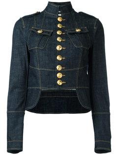 джинсовая куртка в стиле милитари Dsquared2