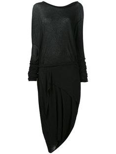 асимметричное платье с длинными рукавами Barbara I Gongini