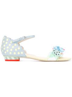 сандалии пастельных оттенков с цветами Sophia Webster