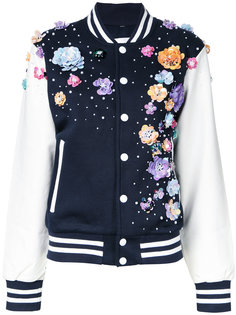 floral embellishment bomber jacket Night Market