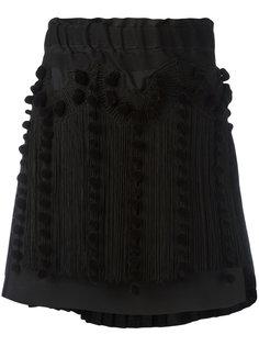 асимметричная юбка с бахромой Nº21