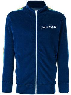 куртка-бомбер с радужной отделкой Palm Angels