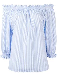 блузка с открытыми плечами и оборками Xacus