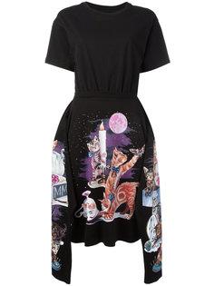 платье с изображением котов Mm6 Maison Margiela