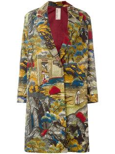 пальто с принтом-пейзажем Antonio Marras