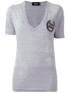 футболка с V-образным вырезом Caten Twins Dsquared2