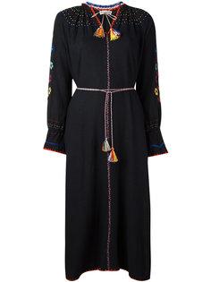 embroidered floral maxi slit dress Ulla Johnson