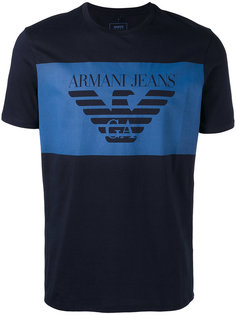футболка с принтом-логотипом Armani Jeans