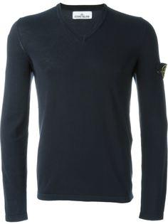 свитер с V-образным вырезом Stone Island