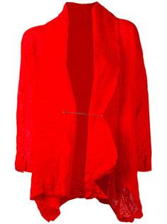 wrinkled pinned jacket  Daniela Gregis