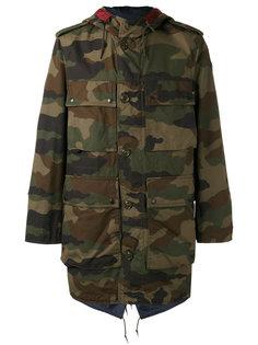 камуфляжное пальто Moncler