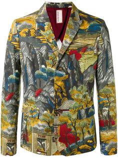 пиджак с принтом-пейзажем Antonio Marras