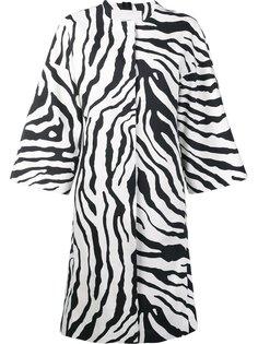 платье с зебровым принтом Adam Lippes