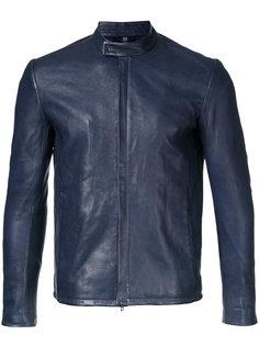 enclosed-zip leather jacket Kazuyuki Kumagai