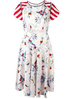 multi-print flared dress Antonio Marras