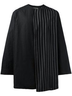 рубашка с отделкой в полоску Yohji Yamamoto