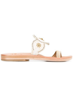 toe strap studded flat sandals Calleen Cordero