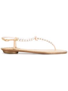 pearled T-bar sandals  René Caovilla
