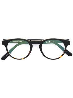 очки в круглой оправе Masunaga