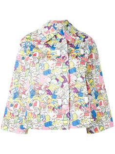 three-quarters sleeve printed jacket Ultràchic