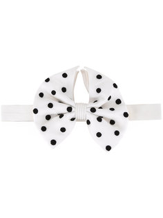 dots print bow tie  Jupe By Jackie
