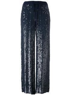 расклешенные брюки с пайетками P.A.R.O.S.H.