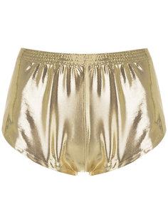 metallic shorts Adriana Degreas