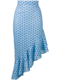 patterned fitted frill dress Daizy Shely