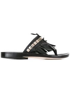 studded fringed sandal Calleen Cordero