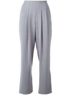 укороченные брюки со складками Armani Collezioni