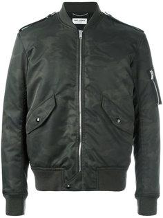 камуфляжная куртка бомбер Saint Laurent