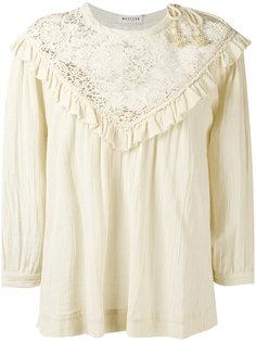 lace yoke blouse Masscob
