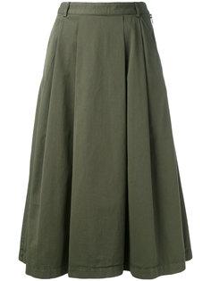плиссированная юбка YMC