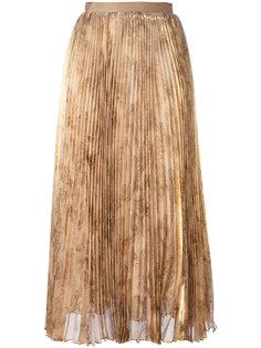 плиссированная юбка миди Oscar de la Renta