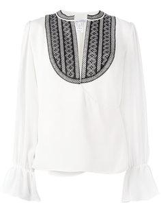 блузка с нагрудником Oscar de la Renta