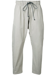 cropped drawstring trousers  Kazuyuki Kumagai