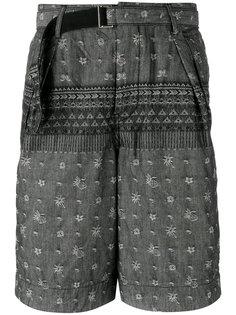 шорты с мелким принтом Sacai