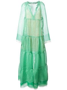 расклешенное платье с узором Stella McCartney