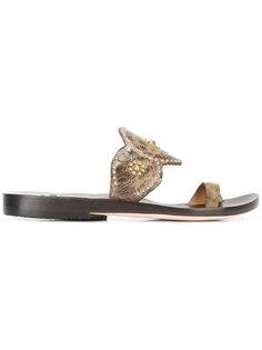 studded flat sandals Calleen Cordero